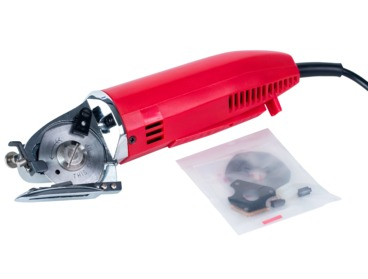 Electric fabric, textile rotary cutter with 2 inch blade.