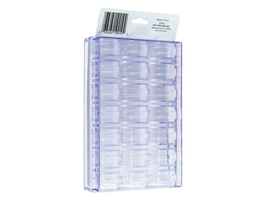 Holds 21 BOBBINS Collins Plastic Bobbin Storage Box