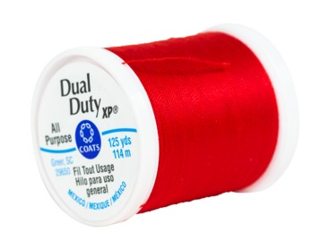 Coats and Clark dual duty xp red thread.