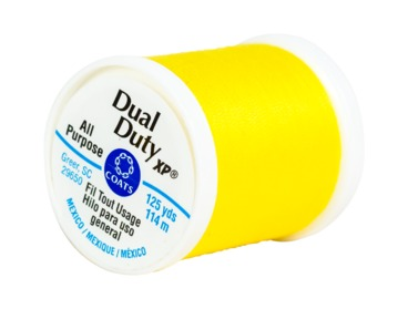 Yellow all purpose thread.  Dual Duty XP by Coats and Clark.
