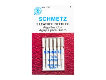 Schmetz leather sewing needles size 90-14.