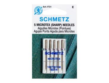 Schmetz sharp size 90-14 sewing needles.