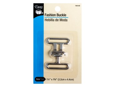 Dritz silver buckle for DIY belts, strapping, cording, and ribbon.