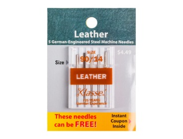 Size 90-14 Xlasse leather sewing needles.
