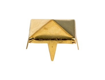 Gold pyramid stud for fashion.