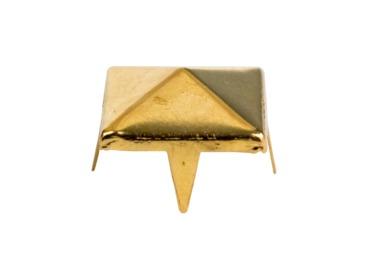 Gold pyramid stud for fashion.
