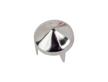 Silver short cone stud - size medium.