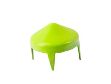 Neon green short cone stud