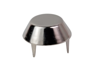 Silver mushroom stud.