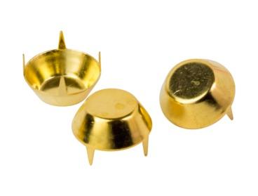 Gold mushroom studs.