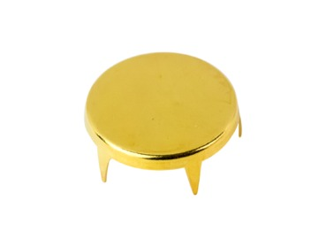 Flat oval circle gold stud