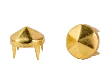 Gold hex studs - spikes.