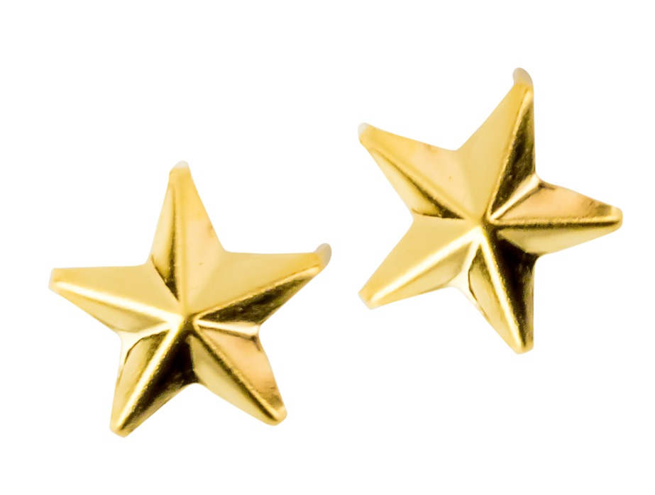 Mjtrends star studs gold small