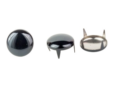 Black dome studs for apparel