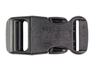 1-inch wide parachute buckle.