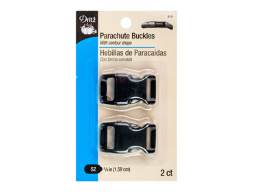Medium sized side-release parachute buckle.