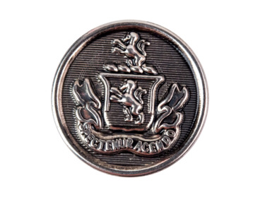 Silver crest regal button.