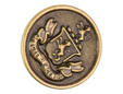 Antique gold crested button. thumbnail image.