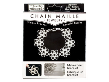 Japanese 6-in-1 chain maille bracelet kit.