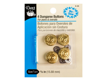 Gold dungaree buttons