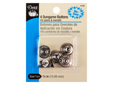Silver dungaree buttons.