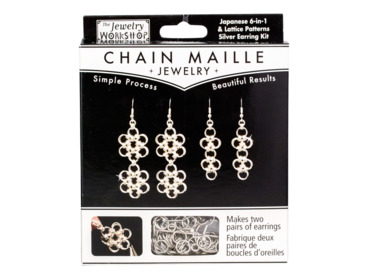 Japanese 6-in-1 chain maille earring kit.
