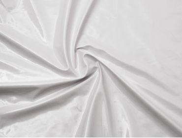 White patent vinyl fabric.