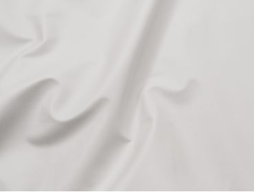 4-way stretch white faux leather fabric.