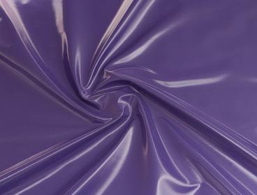 Purple vinyl fabric.