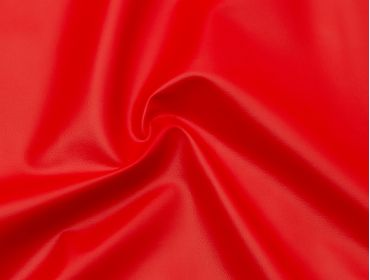 4-way stretch red pleather fabric.