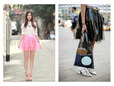 Clear hot pink plastic material for skirts. thumbnail image.