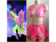 Hot pink transparent vinyl for clothing. thumbnail image.