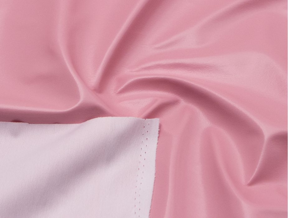 Mjtrends Patent Vinyl Fabric Baby Pink