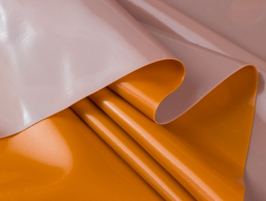 Mjtrends Latex Sheeting Metallic Orange And Grey
