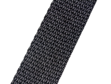 Black 1-inch wide webbing.