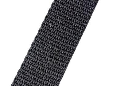 Black 1-inch wide webbing.