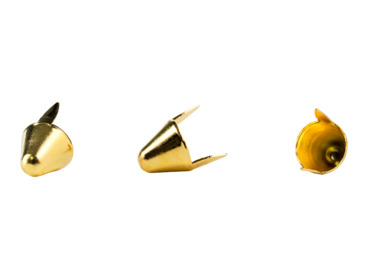 Gold tall cone studs.