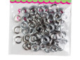 Silver metal eyelets for corsets, lacing, belts, and bags. thumbnail image.