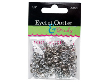Small size silver eyelets for lacing, corsets, belts, bags, etc.