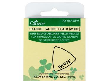 Clover white triangular tailors chalk.