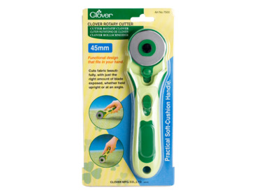 Clover 45mm rotary cutter for fabric.