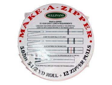 Make a zipper custom length zippers.