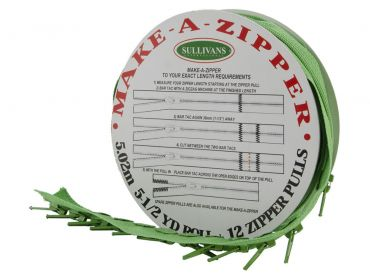 custom length zipper green