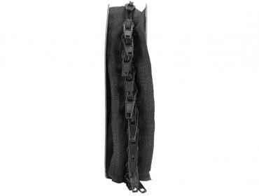 Black custom length zipper kit.