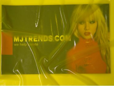 Shined up transparent yellow latex sheeting.
