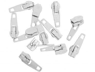 White zipper pulls.