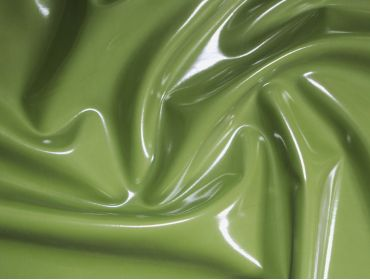 Army green stretch vinyl shiny fabric
