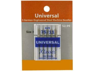 Xlasse 75-11 universal sewing needle.