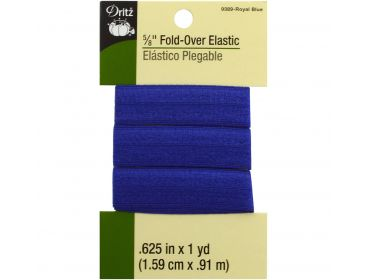 Royal blue fold over elastic five-eighths inch wide