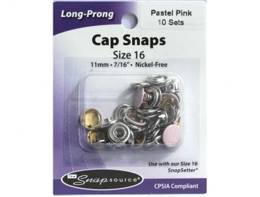 pink capped snaps size 16